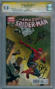 Amazing Spider-man #1 Opena Variant 1:75 CGC 9.8 Signature Series Signed x2 Stan Lee Marvel comic